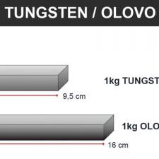Tungsten vs olovo