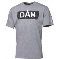DAM Grey Melange Logo majica