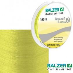 Balzer Iron 8 Fluo žuta 150m