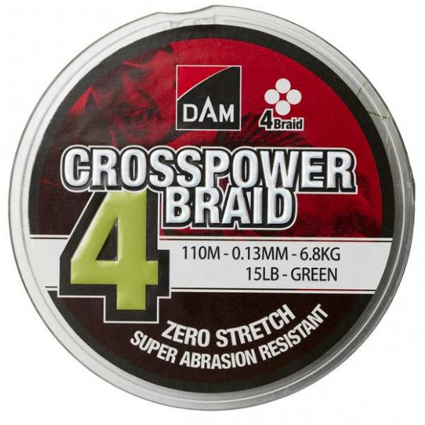 DAM Crosspower 4-Braid 150m (Upredene strune) - www.sportskiribolov.co.rs
