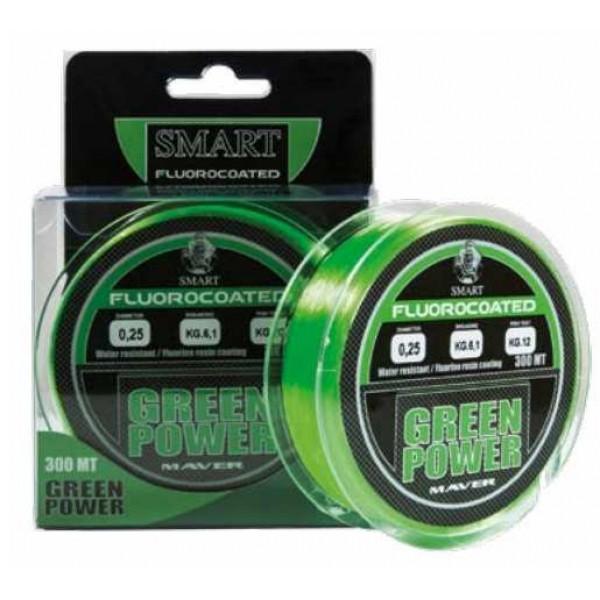 Maver Green Power Fluorine 300m najlon (Najloni za pecanje) - www.sportskiribolov.co.rs