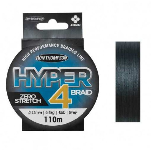 Ron Thompson Hyper 4-Braid Siva (Upredene strune) - www.sportskiribolov.co.rs