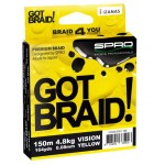 SPRO Got Braid Vision Yellow 150m (Upredene strune) - www.sportskiribolov.co.rs