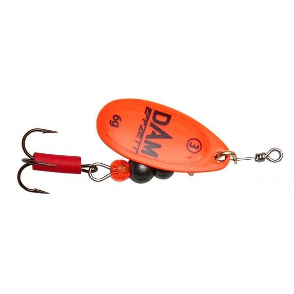 DAM Effzett Fluo Spinner Orange (Spinner / Leptir varalice) - www.sportskiribolov.co.rs