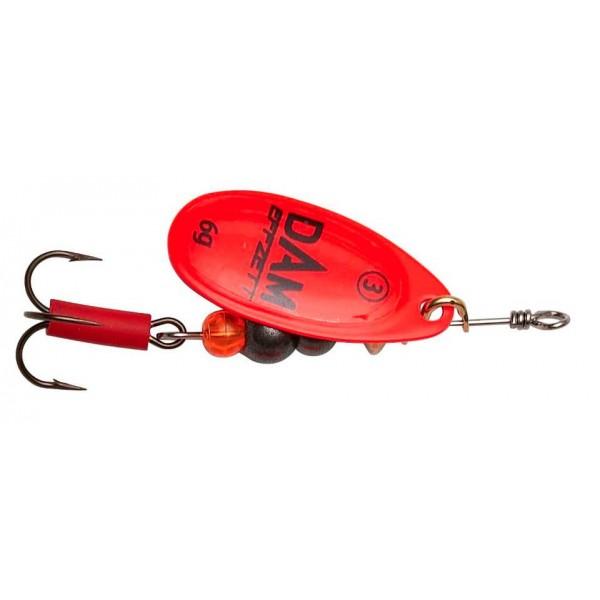 DAM Effzett Fluo Spinner Red (Spinner / Leptir varalice) - www.sportskiribolov.co.rs