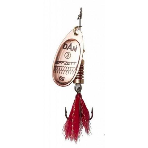 DAM Effzett Standard Spinner Dressed Copper (Spinner / Leptir varalice) - www.sportskiribolov.co.rs