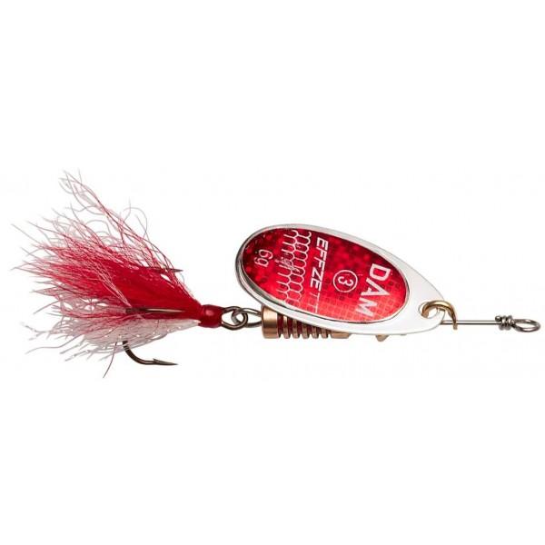DAM Effzett Standard Spinner Dressed Reflex Red (Spinner / Leptir varalice) - www.sportskiribolov.co.rs