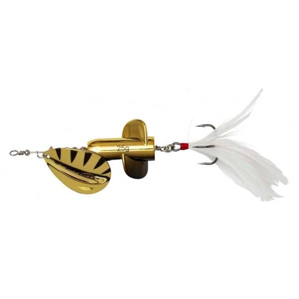DAM Effzett Rattlin Spinner Gold (Spinner / Leptir varalice) - www.sportskiribolov.co.rs