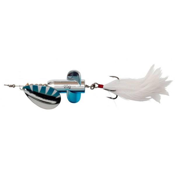 DAM Effzett Rattlin Spinner Silver Blue (Spinner / Leptir varalice) - www.sportskiribolov.co.rs