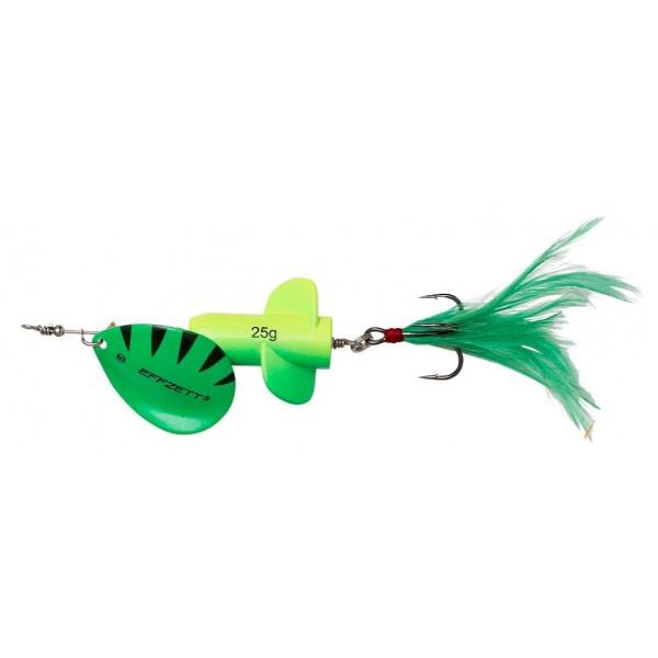 DAM Effzett Rattlin Spinner Fluo Yellow / Green (Spinner / Leptir varalice) - www.sportskiribolov.co.rs