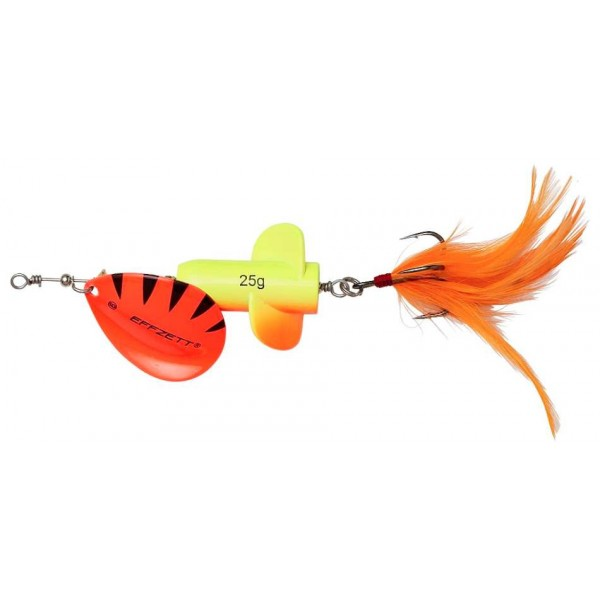 DAM Effzett Rattlin Spinner Fluo Yellow / Orange (Spinner / Leptir varalice) - www.sportskiribolov.co.rs