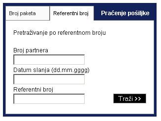 praćenje pošiljke po referentnom broju 2