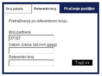 praćenje pošiljke po referentnom broju 3